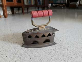 small vintage charcoal iron
