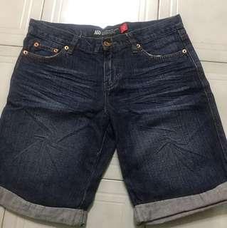 🚚 A&D 牛仔反折短褲 尺寸27號