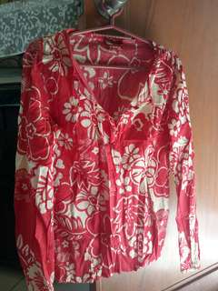 Red floral long sleeves
