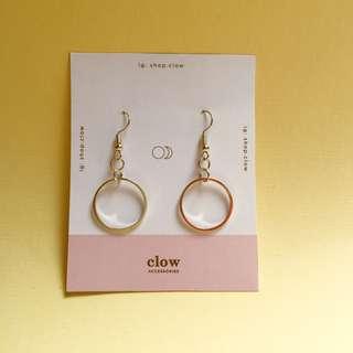 Circle Geometrical Earrings