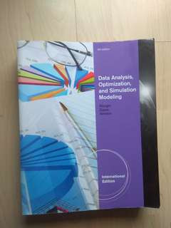 DSC1007/DSC2008 Textbook - Data Analysis, Opmitmization and Simulation Modeling