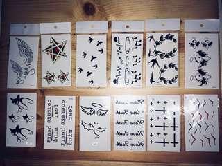 紋身貼紙 Tattoos