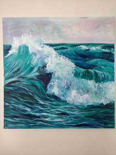 """""""The Wave"""" - Acrylic on canvas. My original painting"""