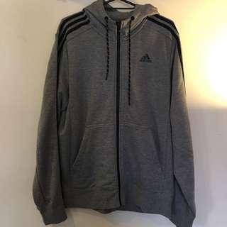 Adidas 灰色連帽外套