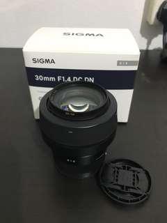 Sigma 30mm f1.4 e-mount