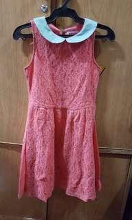 Tomato Lace Dress