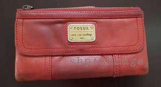 Fossil Genuine Leather Emory Clutch Wallet