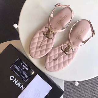 Chanel Thong Sandal in pink