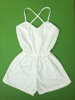 NEW Romper shorts in white or pink
