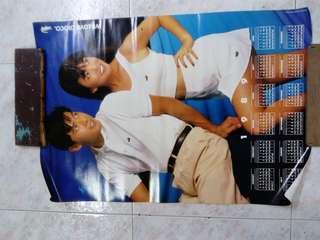 Li Nanxing (w autograph) & Fann Wong 1989 poster calendar