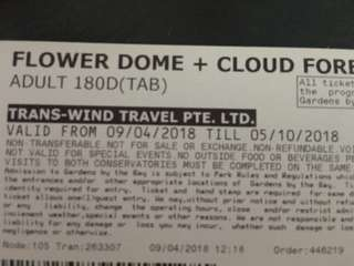 Flower Dome & Cloud Forest ticket valid till 5th October
