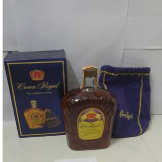 (042) 1977年 crown royal the legendary whisky 1140ml 40% (有盒)日本法國舊酒洋酒威士忌白蘭地干邑拿破崙whisky brandy cognac xo vsop napoleon