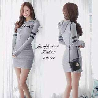 Hoody Dress Freesize S to L