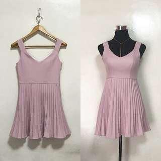 [Preloved] Blush Pink Pleated Dress