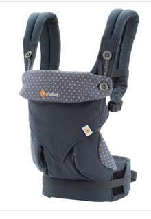 Ergobaby 360 dusty blue carrier w/ drool pads