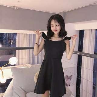 •PO• HARAJUKU BLACK ALINE DRESS