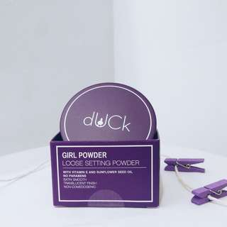 dUCk #GIRLPOWDER LOOSE SETTING POWDER FOR OILY SKIN