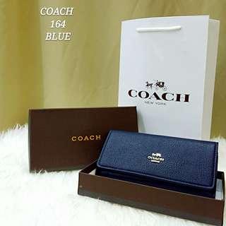 Coach Flap Wallet Blue Color