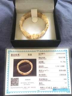 Modern 12mm Gold rutilated Quartz bracelet(钛金手链/金发丝手链)come with free gift
