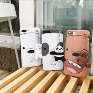 WE BARE BEAR Phone Case with Phone Charm