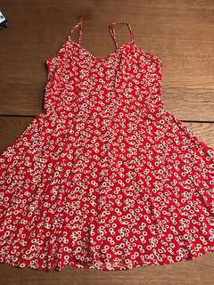 Cotton On Red Floral Dress
