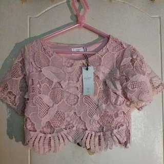 粉紅易襯上衣
