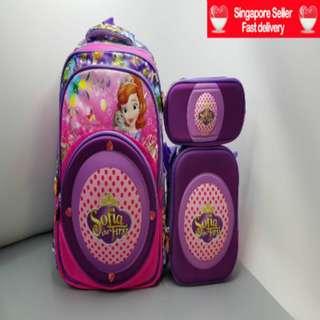 Kids School Bag Sling Bag Pencil Case for a price of 1
