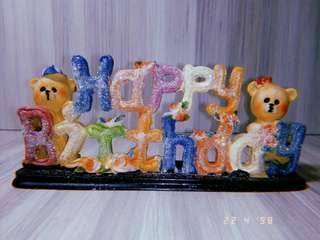 Happy Birthday display piece #20under