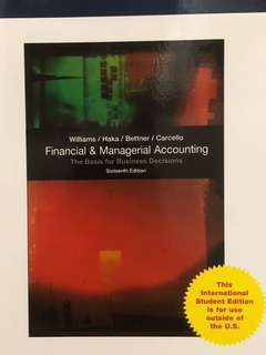 Financial and Managerial Accounting Textbook NTU
