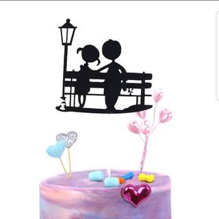 (3 for $7.50) Couple Cake Topper