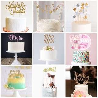 Customize Cake Topper