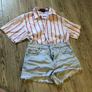 Vintage Button down Polo