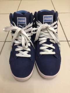 Puma Suede High Tops Blue Women