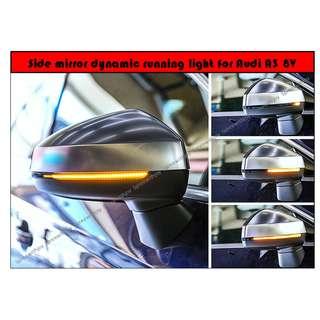 Side mirror dynamic running light for Audi A3 8V