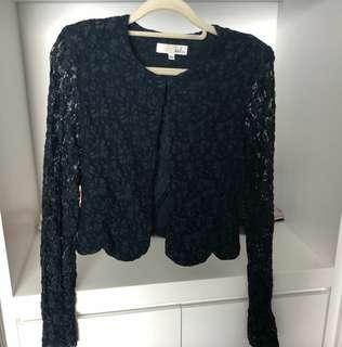 Lace 黑色外套