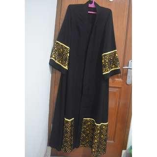 Yellow-Black Abaya