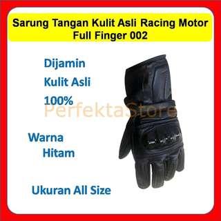 Sarung Tangan Keren Glove Motor Kulit Asli Batok Racing Full Finger