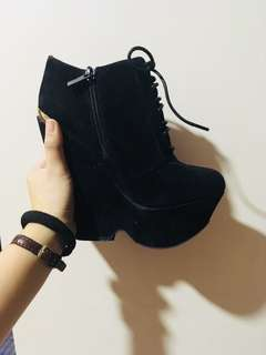 Wedge boots ankle boots