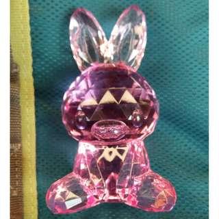 粉紅兔仔 閃閃擺設