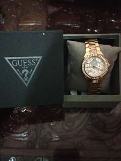 preloved guess watch viva series rosegold