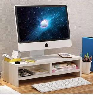 Computer Monitor Table Stand with Shelves