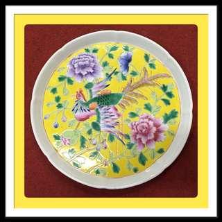 Vintage Peranakan Teaset Porcelain Tray