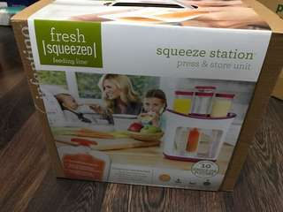 BNIB Fresh Squeezed Feeding Line - Squeeze Station Press & Store Unit