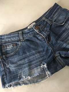 Denim Mid-Rise Shorts