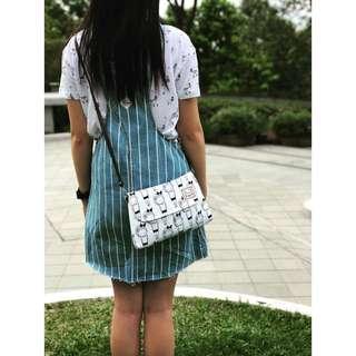 泰國帆布袋 斜背包 睡覺女孩 Bags made in Thailand