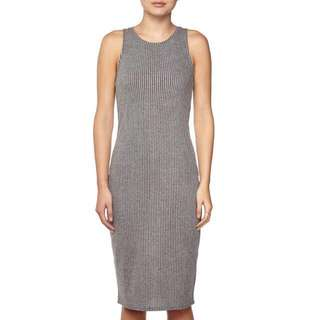 Cotton On Grey Stripes Kellie Muscle Midi Dress