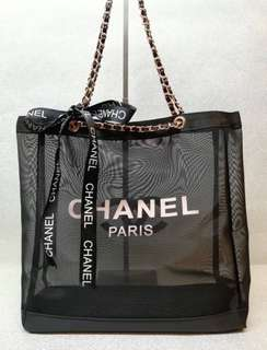 Brand new authentic Chanel rose gold chain tote