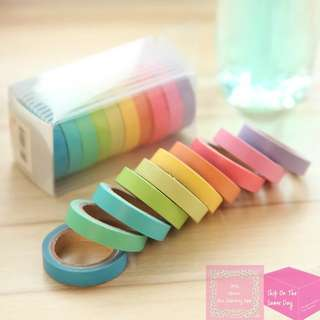 Set of 10pcs Colourful Decoration Washi Tape