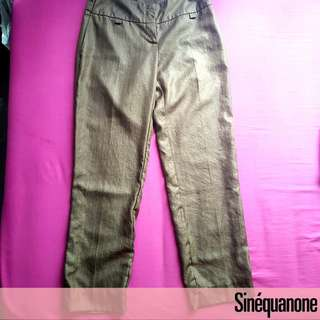 Sinequanone Office Pants with Stripes