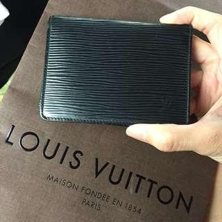 AUTHENTIC LV LOUIS VUITTON Epi Leather Card Holder / Case